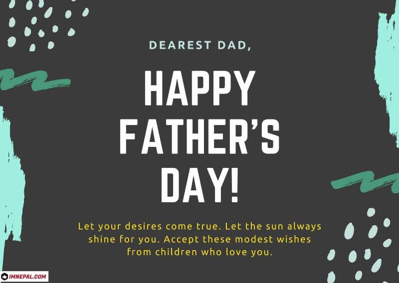 Happy Nepali Father's Day Wishes Card