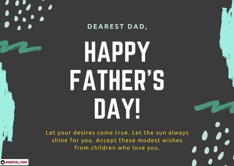 Happy Nepali Father's Day 2077 Wishes Card